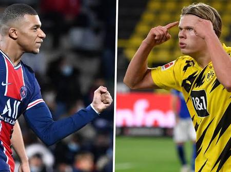 It's Time To Focus On This Two. Check out Mbappe vs Haaland Statistics This Season 2020/21