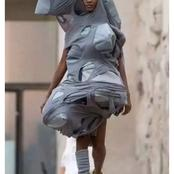 Could This be Fashion? See What a Lady was spotted Wearing on the Street Athat Got Reactions.