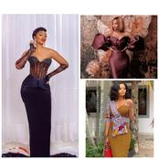 Trendy and Classy Gowns Styles Made From Different Fabrics Rocked by Slim Ladies