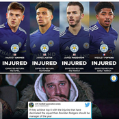 Checkout All Leicester City Players That Are Injured