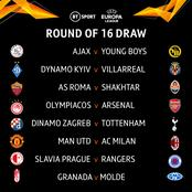 UEL Draw: Arsenal & Man United To Face Tougher Opponents As UEFA Releases Round Of 16 Fixtures