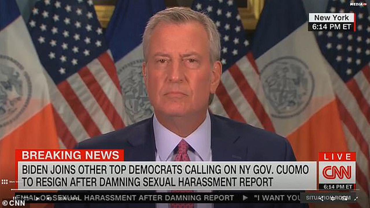 Mayor De Blasio has denounced Governor Cuomo's 'laughable' denial of his sexual harassment saying that his 'defense was an insult to these women'