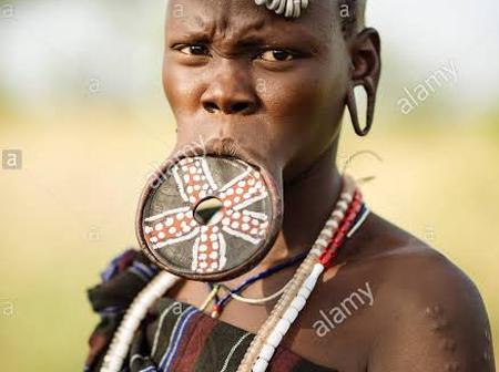 Why the Mursi tribe wear lip plates.