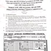 2015 WAEC Chemistry Past Questions And Answers