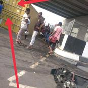 Trailer Conveying a Container Has Turned Over Under the Newly Commissioned Rumuokoro Flyover, PHC