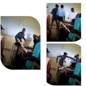 Reactions as UNIUYO student beats lecturer on the chest more than once in class
