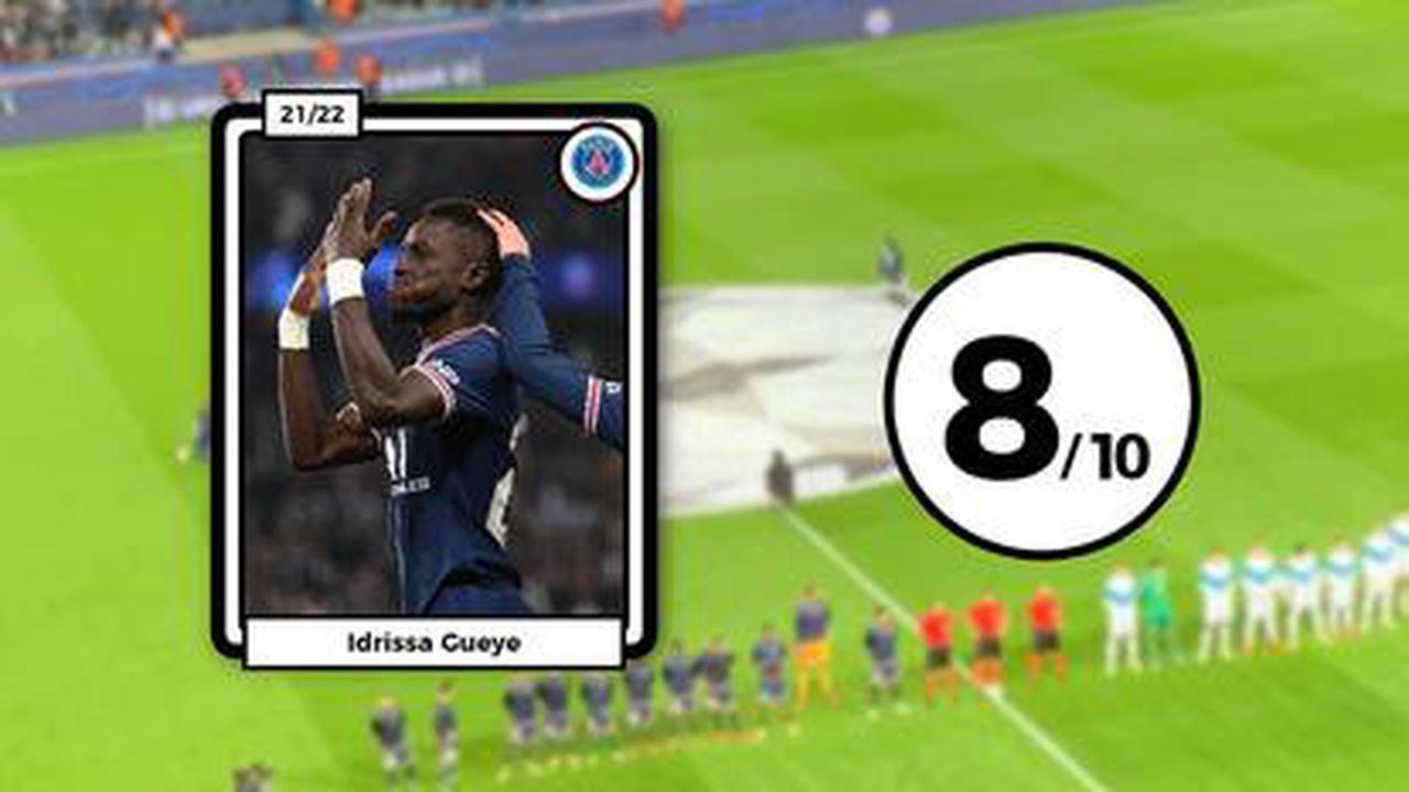 Les notes du PSG face à City: Gueye et Verratti font la loi au milieu, Mbappé percutant