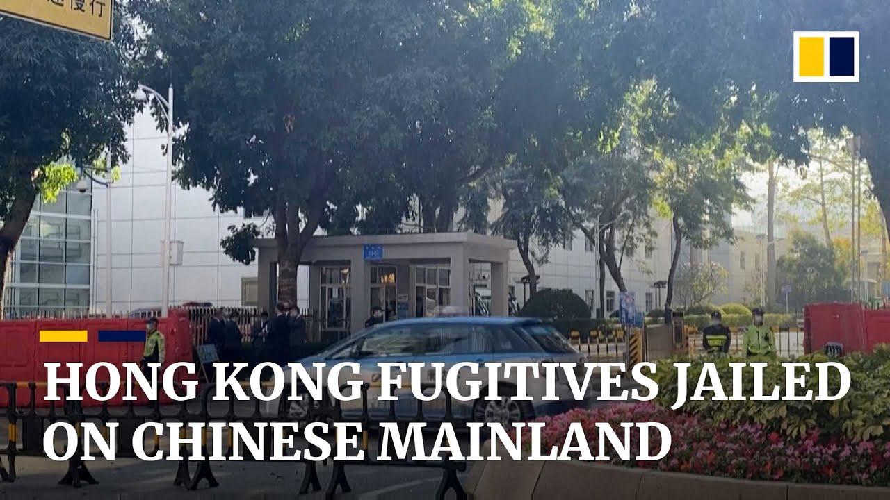 Ten Hong Kong fugitives captured at sea jailed for up to three years on Chinese mainland