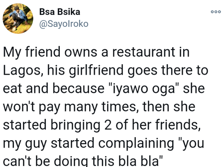 See what happened After A Lady took her two friends to eat without paying at Her Boyfriend's Restaurant