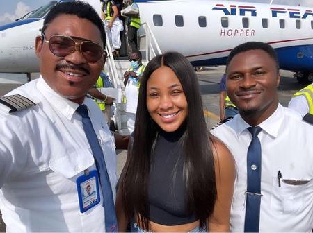 Photos of Erica and Omotola's husband, Captain Ekeinde
