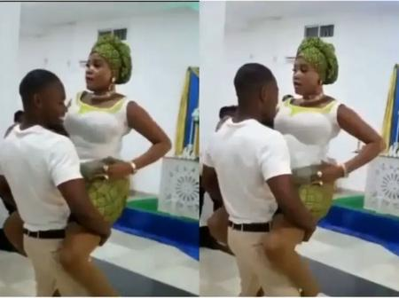 Jesus Wept - See What A Lady Was Spotted Doing Inside The Church With Her Boyfriend