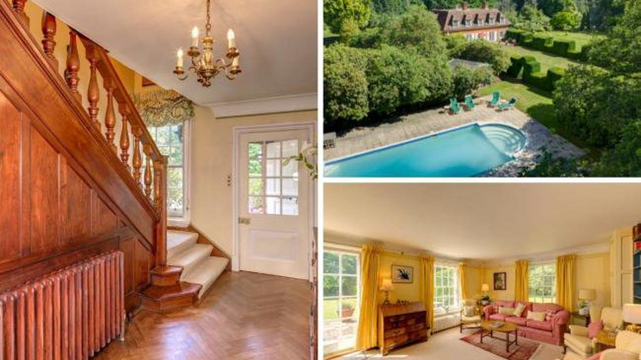 Inside WWII star Googie Withers' former home - with huge swimming pool and EIGHT ACRES of land