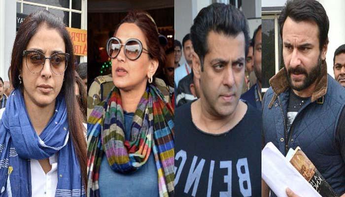 Tabu, Salman Khan, Saif Ali Khan and Sonali Bendre