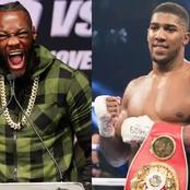 Here is What Anthony Joshua Said About Wilder's Excuse For Losing to Fury