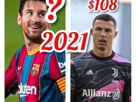 Top 5 Highest Paid Football Players In 2021; Ronaldo Is Ranked 2nd, See Messi's Position