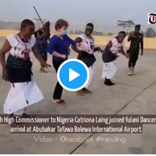 Nigerian's React As British High Commissioner To Nigeria Joins Fulani Dance At The Airport- Video
