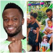 Mikel Obi Shows Off His Wife and Twin Kids, Says