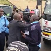 Dramatic Scenes as a Police Officer is Arrested Taking Bribes At The Nakuru - Kericho Barricade