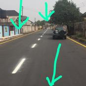 Check Out One Of The Streets In Imo State After Its Road Reconstruction.