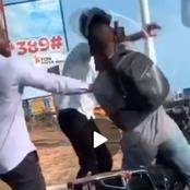 'Okada' Rider Was Captured On Camera Fighting With His Passenger Over Money In Accra