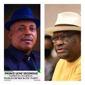Gov. Wike Meets Prince Uche Secondus: Read What Wike Told Secondus When They Met Recently.
