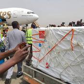 Covid-19 vaccines arrive Nigeria. See pictures below
