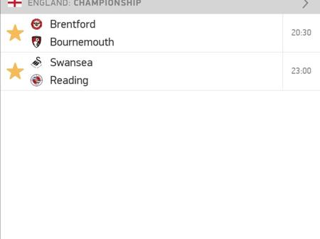 Wednesday's football odds    yesterday we won 7 odds.