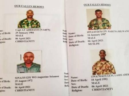 Headlines: Photographs Of The 12 Soldiers Killed In Benue Released, Kidnapped Priest Regains Freedom
