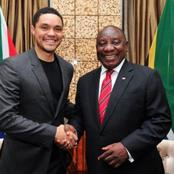 Here's why Trevor Noah never made jokes about Cyril Ramaphosa ever since he became President Opinion