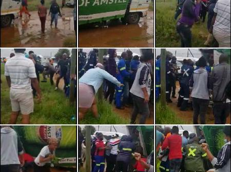 VIDEO:Kuruman citizens blessed with alcohol from SAB truck