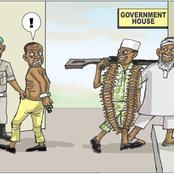 See This Cartoon By PUNCH That Show The Way The Government Are Romancing Bandits And Jailing Thieves