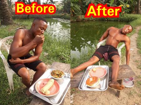See how this man ended up after eating this strange food