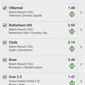 The Best Of Today's Six (6) Analysed Soccer Predictions Picks To Stake For Huge Return Tonight