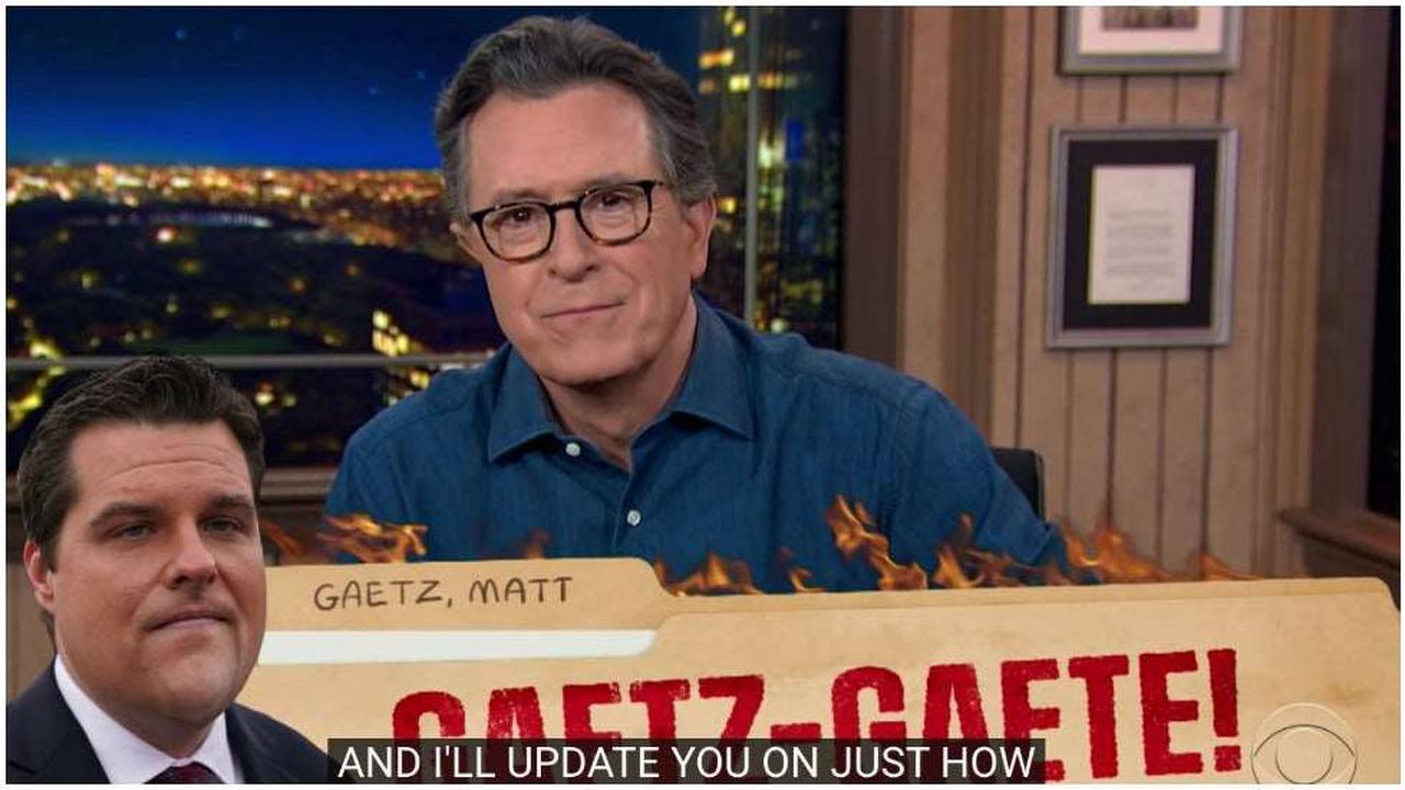 Colbert mocks Gaetz after Trump denies he asked for a pardon