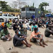 PHOTOS: 113 young men and women paraded in Lagos after their arrests at night clubs