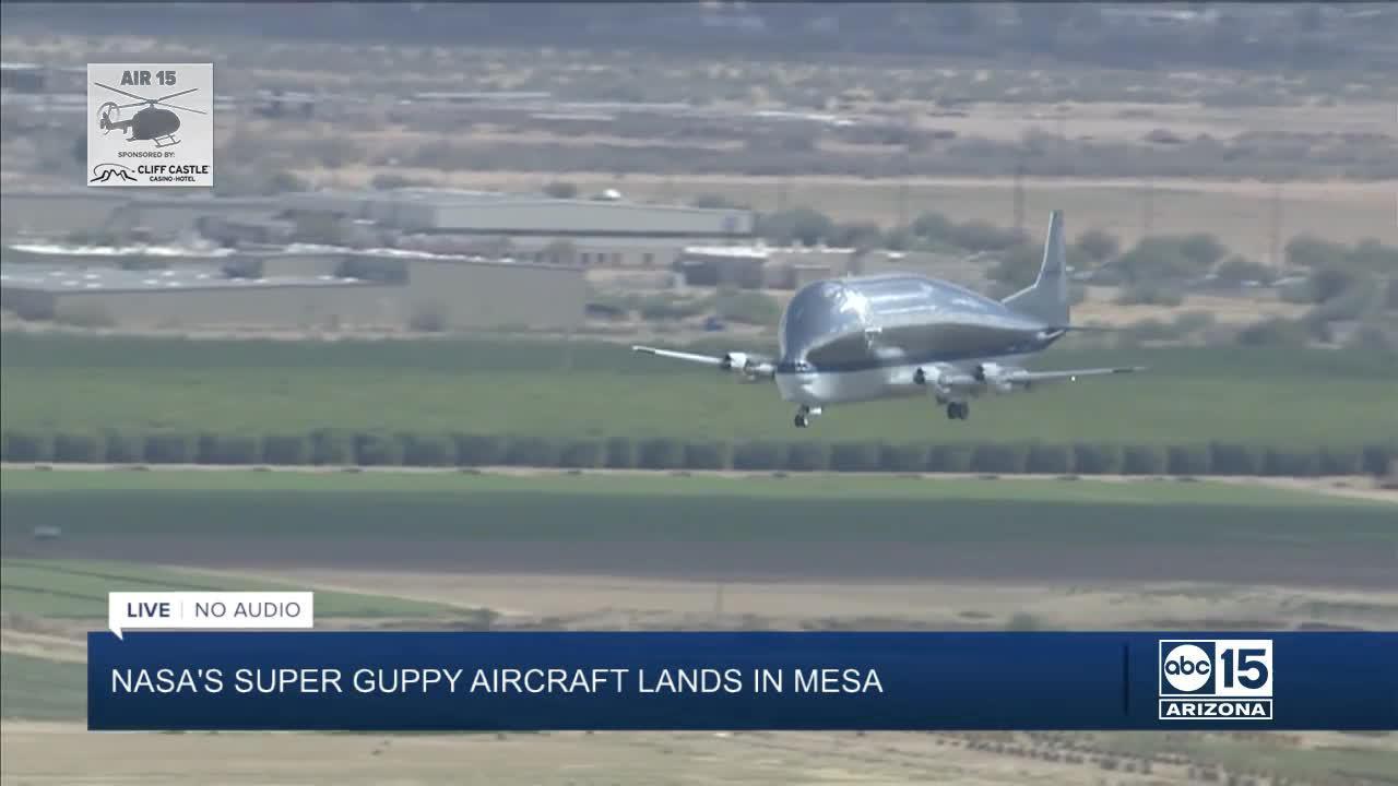 NASA's 'Super Guppy' aircraft lands at Arizona airport