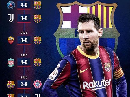 Barcelona's Biggest UEFA Champions League Defeats Since Pep Guardiola Left