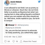 Anele Mdoda's tweet lands her into trouble as the past is brought up
