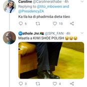 Tito Mboweni's new shoes cause havoc on the internet. See what Msanzi had to say.