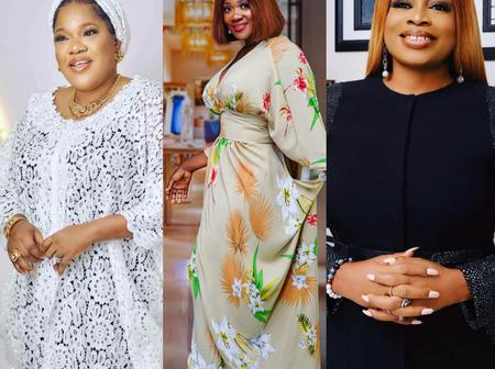 Checkout what Mercy Johnson replied Toyin Abraham after she wished Sinach a happy birthday