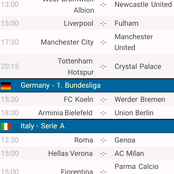 Sunday's Epl Prediction To Win You Big