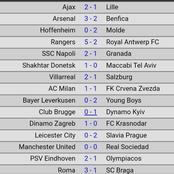Europa League fixtures and results in case you missed it