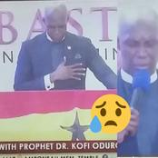 Prophet Kofi Oduro Almost Broke Into Tears At His Church While Effectually Praying For The Nation.