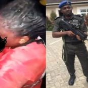 See Reactions After Lagos State Police Arrests The Officer That Shot His Girlfriend In The Mouth