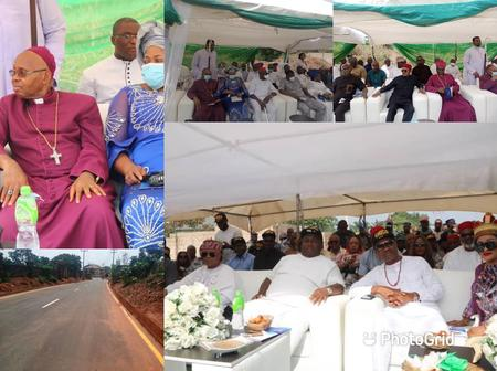 Ubah, Maduka, Ibeto, Others Present As Anambra Billionaire Commissions Road Project (Photos)
