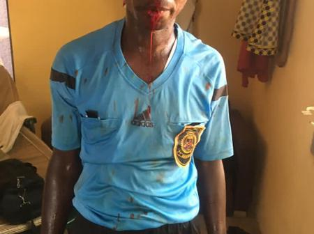 Division one referees beaten like Armed Robbers