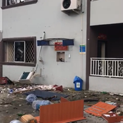 Endsars Protest: Ikeja Electricity Distribution Company office Vandalised by unknown thugs.