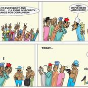 This Cartoon About Buhari's Speech In 2015 Has A Deeper Meaning, See What People Are Saying About It
