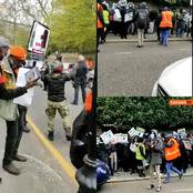 After Anti Buhari Protesters Storm Abuja House In London, See What Happened To Buhari Supporters