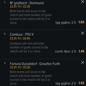 Friday 4 must win football matches